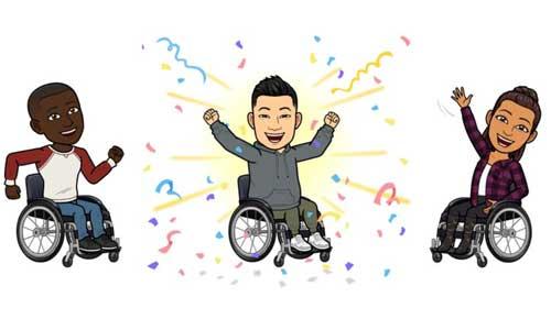 Snapchat lance ses premiers avatars en fauteuil roulant